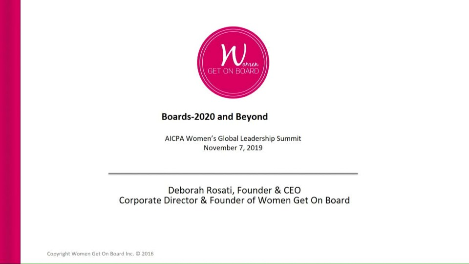 Boards - 2020 and Beyond