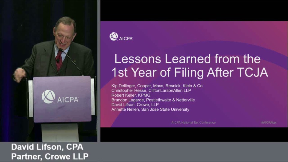 Lessons Learned from the 1st Year of Filing After TCJA