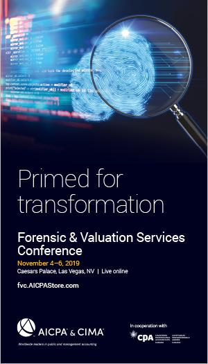 Forensic & Valuation Services Conference 2019
