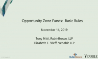 Opportunity Zone Funds: Basic Rules