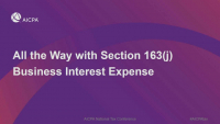 All the Way with 163(j) Business Interest Expense