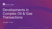 Accounting for Complex Oil and Gas Transactions