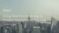 Using Machine Learning to Predict Outcomes in Tax Law