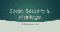 Social Security and Marriage