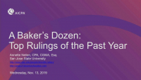 A Bakers Dozen: Top Rulings of the Past Year
