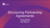 Structuring Partnership Agreements