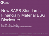New SASB Standards: Financially Material Sustainability Disclosures