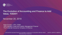 The Evolution of Accounting and Finance to Add Value, TODAY