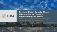 Driving Global Supply Chain Effieiciencies in Today's Hyperconnected World