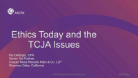 Ethics Today and the TCJA Issues