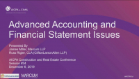 Advanced Accounting and Financial Statement Issues