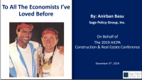 Welcome Remarks | To All the Economists I've Loved Before