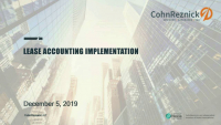 Lease Accounting Implementation (Repeat of COR1915)