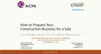 How to Prepare Your Construction Business for a Sale