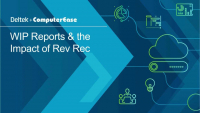 WIP Reports and the Impact of Rev Rec