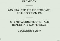 Breadbox - A Capital Structure Response to IRC Section 118
