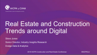 Morning Remarks | Real Estate and Construction Trends around Digital