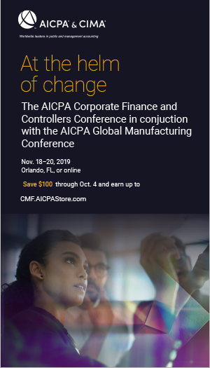 Corporate Finance, Controllers and Global Manufacturing Conferences 2019
