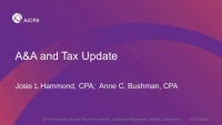 A&A & Tax Update
