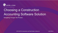 Selecting a Construction Accounting Software Solution
