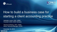 How to Build a Business Case for Starting a Client Accounting Service Practice