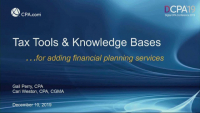 Tax Tools & Knowledge Bases