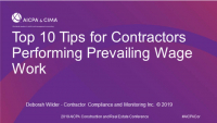 Top 10 Tips for Contractors Performing Prevailing Wage Work