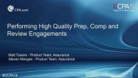 Improving Guidance on Prep, Comp and Review Engagements