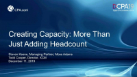 Creating Capacity: More Than Just Adding Headcount