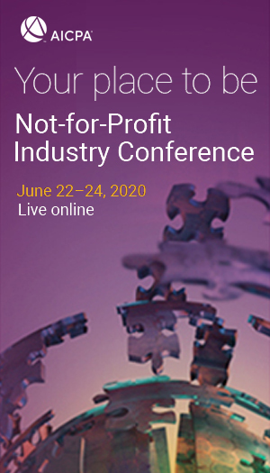 AICPA Not-for-Profit Industry Conference 2020