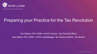 ENG201.04. Preparing your Practice for the Tax Revolution