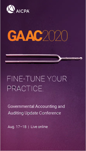 AICPA Governmental Accounting & Auditing Update Conference 2020