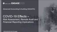 NAA2009. COVID-19 Effects - Risk Assessment, Remote Audit and Financial Reporting Implications
