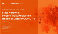 PFP2019. State Personal Income/ Trust Residency issues created by COVID-19