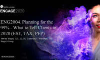 ENG2004. Planning for the 99% - What to Tell Clients in 2020 (EST, TAX, PFP)