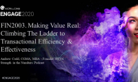 FIN2003. Making Value Real: Climbing The Ladder to Transactional Efficiency & Effectiveness