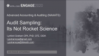 NAA2006. Audit Sampling - It's Not Rocket Science