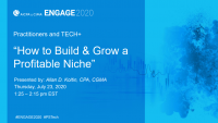 PST2021. How to Build & Grow a Profitable Niche
