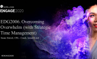 EDG2006. Overcoming Overwhelm (with Strategic Time Management)