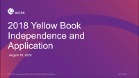 2018 Yellow Book Independence and Application