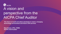 Setting Standards in Today's Environment - Future of Auditing