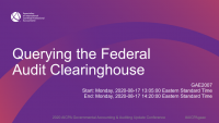 Querying the Federal Audit Clearinghouse