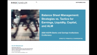 Balance Sheet Management: Strategies vs. Tactics for Earnings, Liquidity, Capital, and ALM