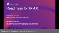 Readiness of Finance for Industrial Revolution 4.0
