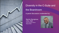 Panel: Diversity in the C-Suite and the Boardroom