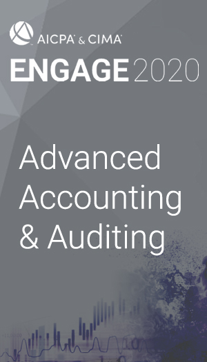 Advanced Accounting and Auditing (as part of ENGAGE 2020)