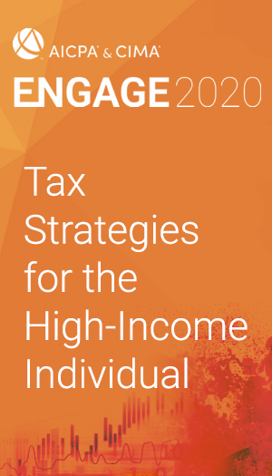 Tax Strategies for the High-Income Individual (as part of ENGAGE 2020)