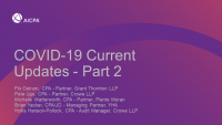 COVID-19 Current Updates - Part 2