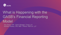 What is Happening with the GASB's Financial Reporting Model