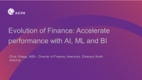 Evolution of Finance: Accelerate Performance with AI, ML and BI
